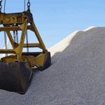 Распределение нерудных материалов на складе - порту